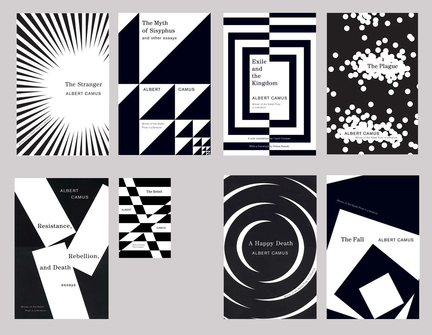 Book Cover Design Principles : Albert camus covers publisher vintage designer helen