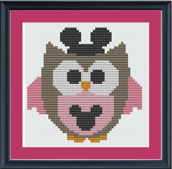 Cute Mickey Mouse owl - Hattie's favorites combined! How cute!