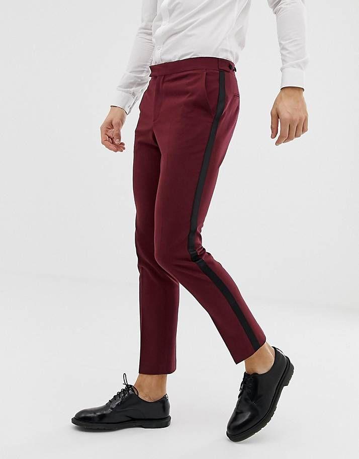 nuovi speciali comprare a buon mercato nuovi prodotti caldi 2019 的ASOS DESIGN - Pantaloni da smoking skinny prugna ...