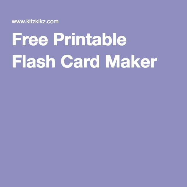 Free Printable Flash Card Maker Spelling Levi Free Printable