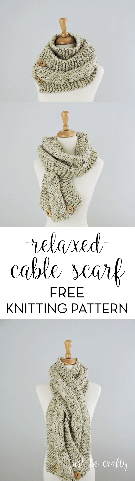 Chunky Relaxed Cable Scarf Pattern by | Scarf patterns, Knitting ...