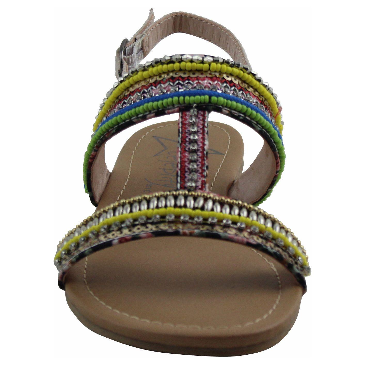 Women's 'Cindy' Multicolor Beaded Sandals