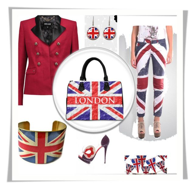 """""""Fantasy Trip To The UK"""" by siriusfunbysheila1954 ❤ liked on Polyvore featuring Any Old Iron and Just Cavalli"""