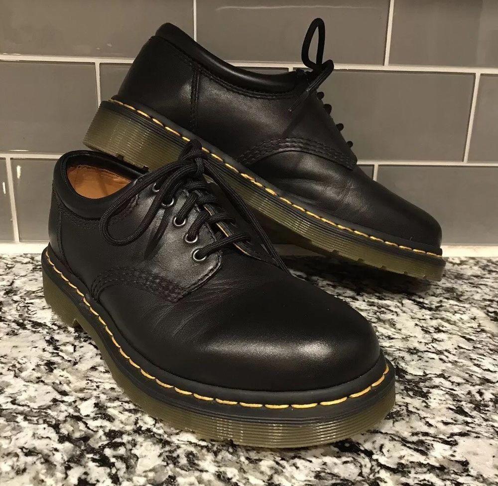 Black leather shoes, Doc martens