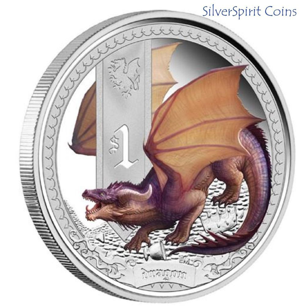 Dragons of Legend Mythical Three Headed Dragon 2013 1oz Silver Proof Coin