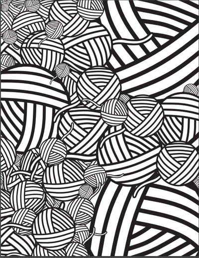 Mesmerizing Yarn Coloring Page | Coloring pages, Color