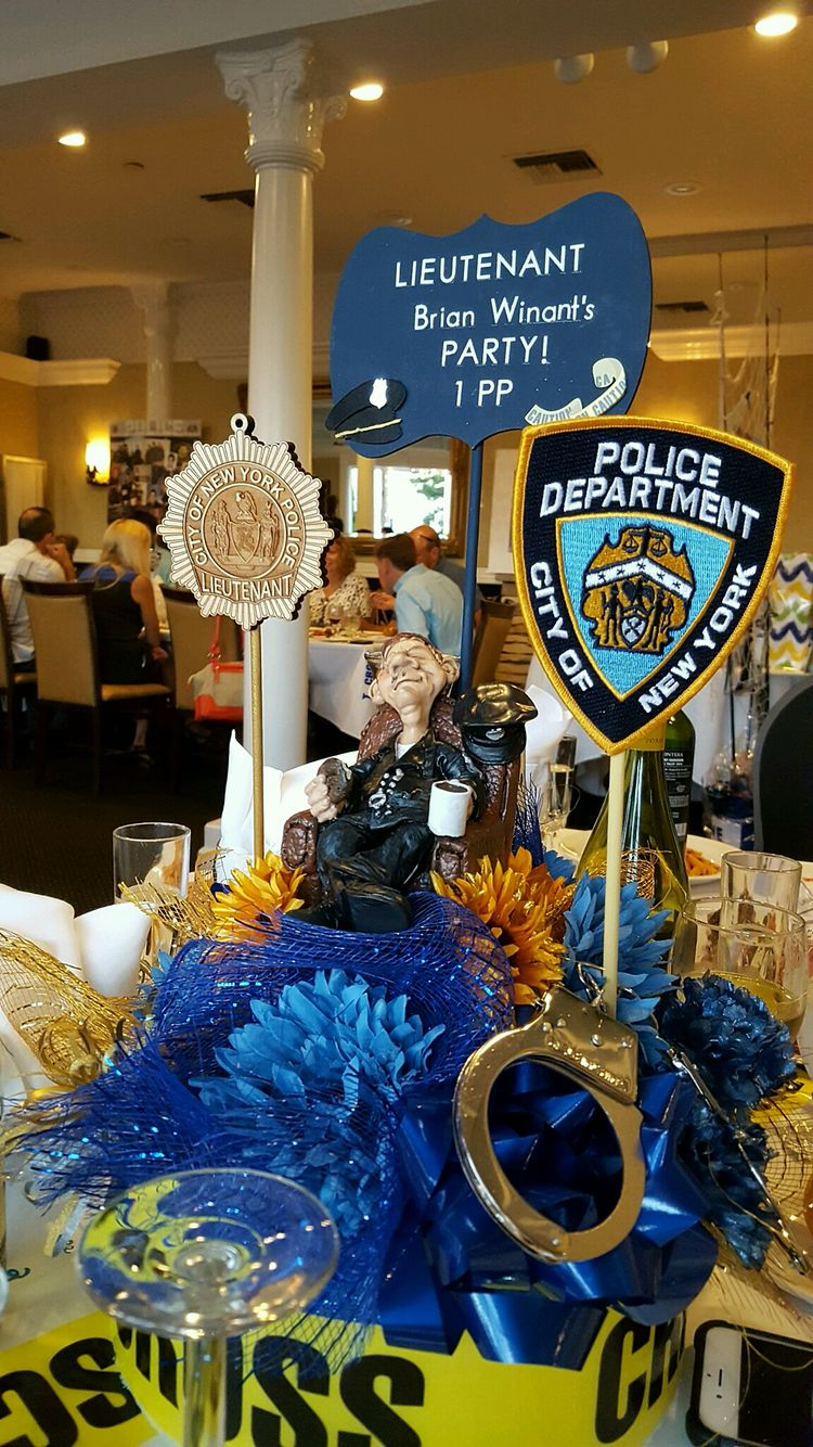 Nypd retirement party centerpiece police
