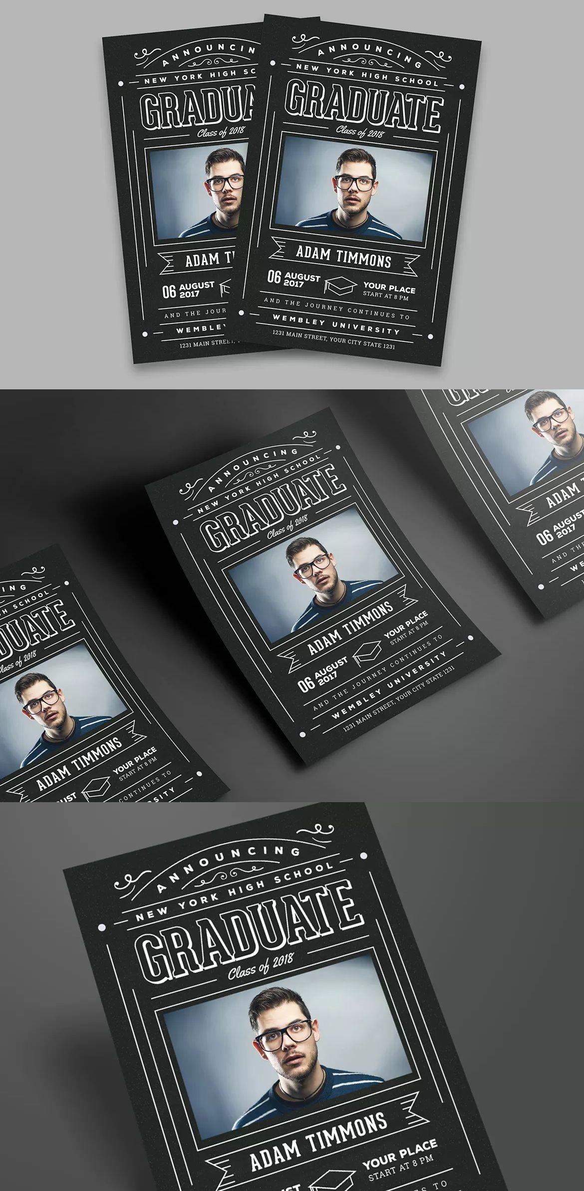 Graduation Invitation Template AI, PSD | Invitation Card Templates ...