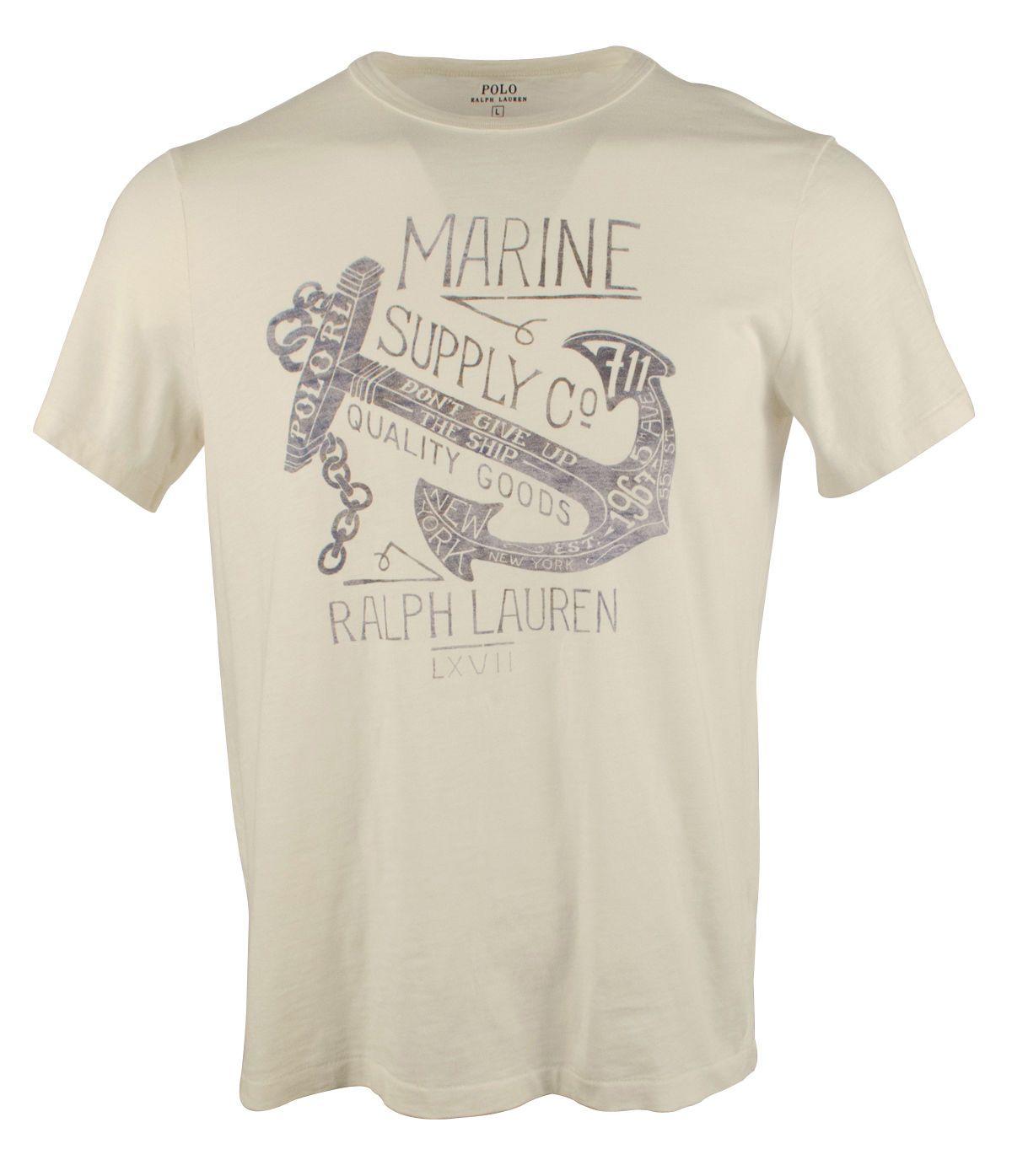 8ec19bc9b4635 ... norway t shirts 15687 polo ralph lauren men s custom fit anchor graphic  t shirt buy