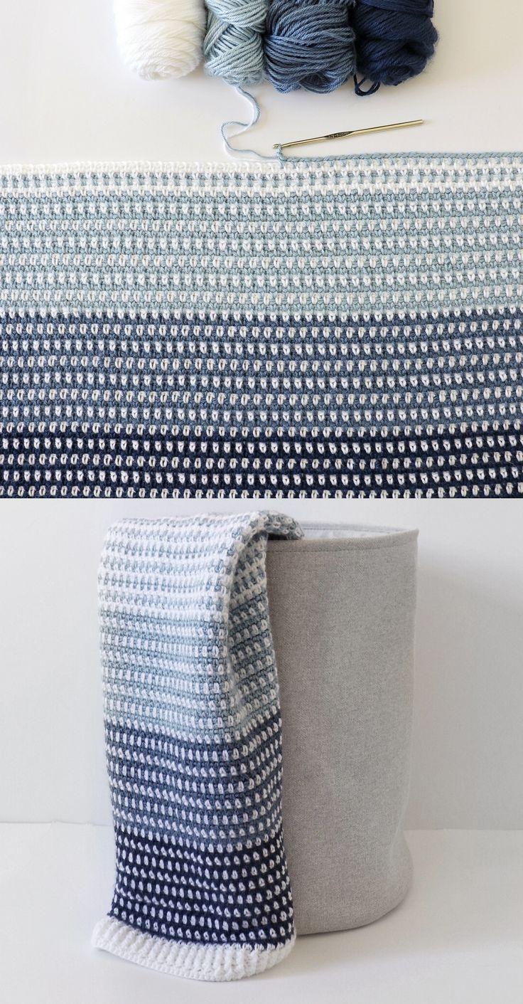 Kostenlose Anleitung - Crochet Country Blues Baby Blanket - Handwerk #strickanleitungbaby