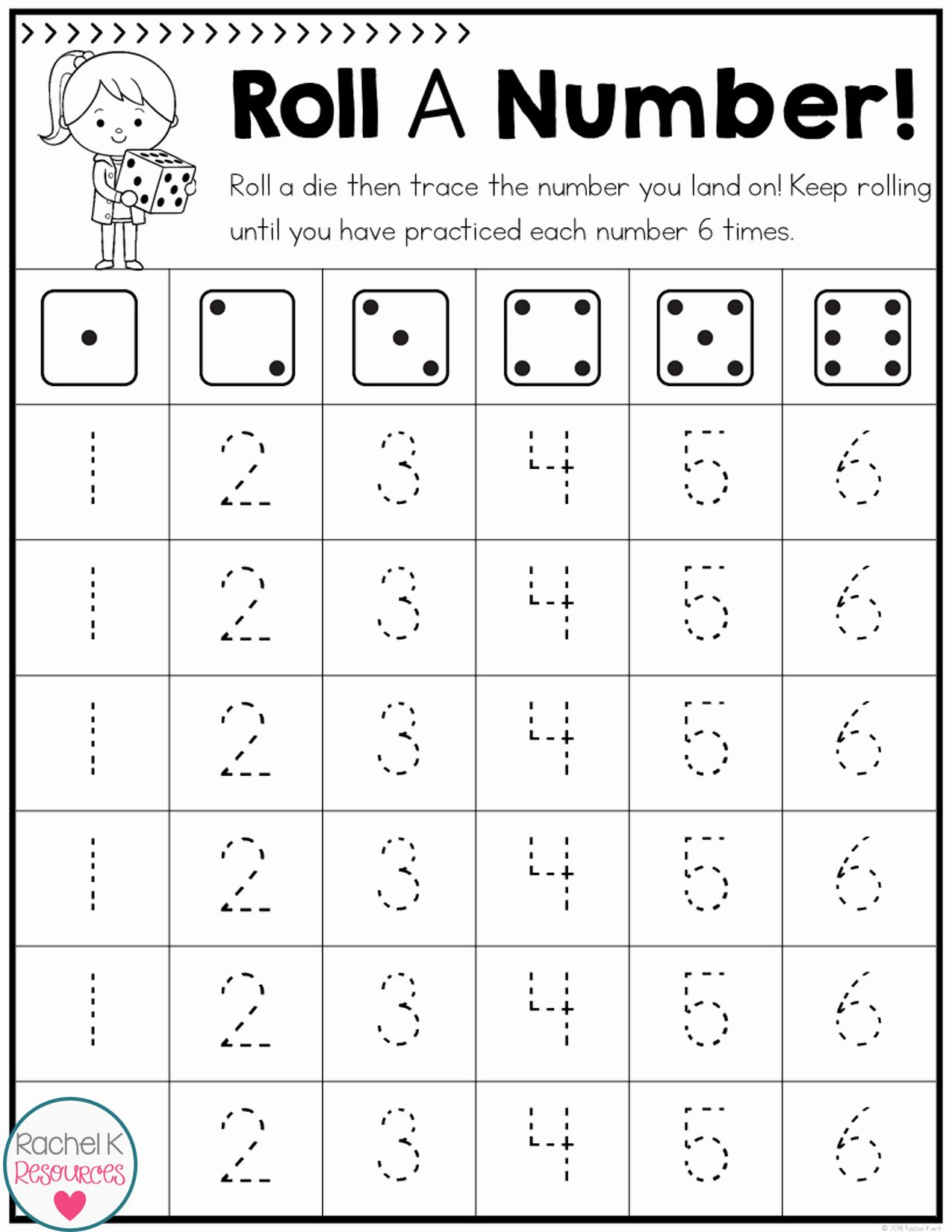 Coloring Dice Numbers