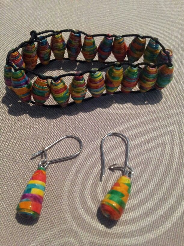 Papier Perles Et Boucles En Bracelet D'oreilles RouléMes FJTKl1c