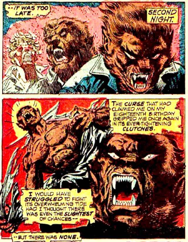 Transformation Into Werewolf By Night by Gil Kane