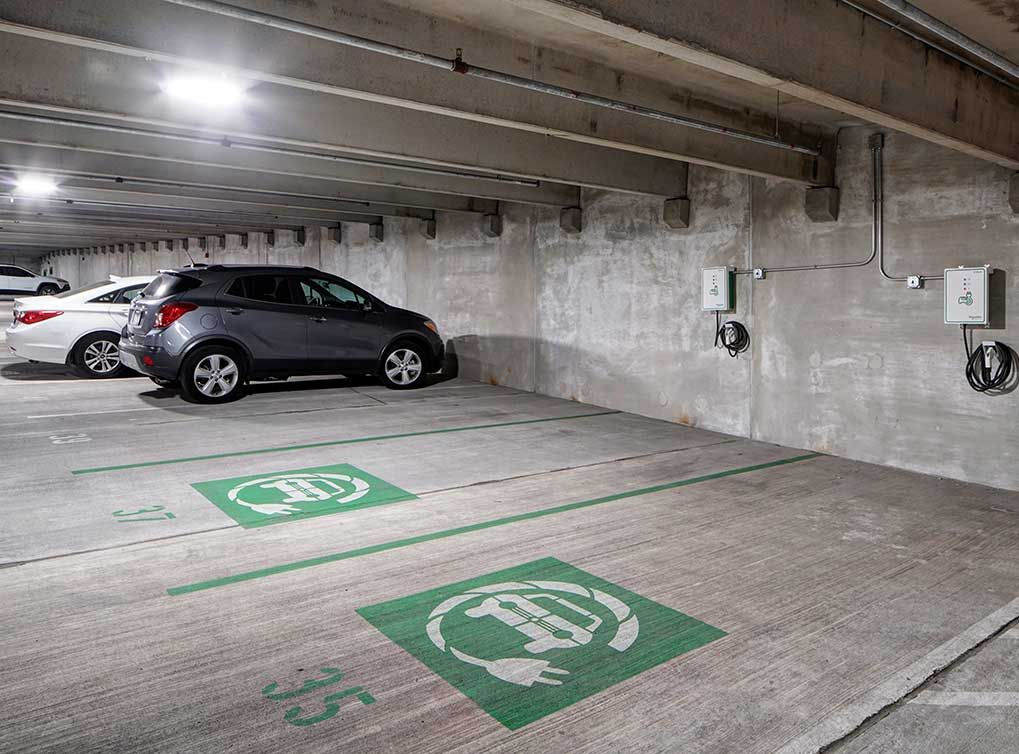 Electric cars get their very own charging stations in the