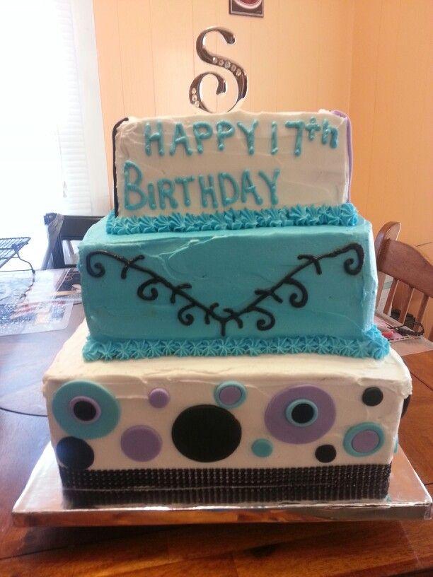 Pleasant 17Th Birthday Cake 17 Birthday Cake 17Th Birthday Cake Birthday Cards Printable Riciscafe Filternl