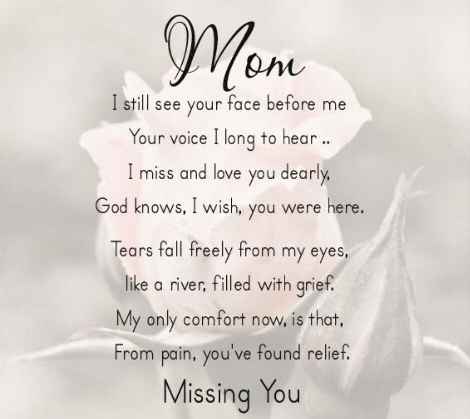 Pin by Carol Gibson on mom | Mom in heaven quotes, Mom poems ...