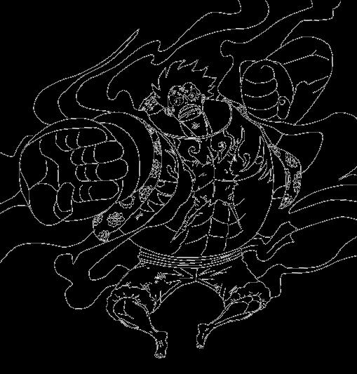 Monkey D Luffy Gear 4th Lineart By Ddeadly Desenhos De