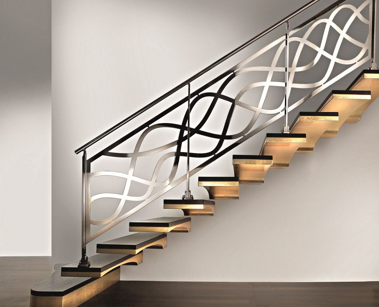 Wrought Iron Modern Stair Railings Modern Stair Railing Stair