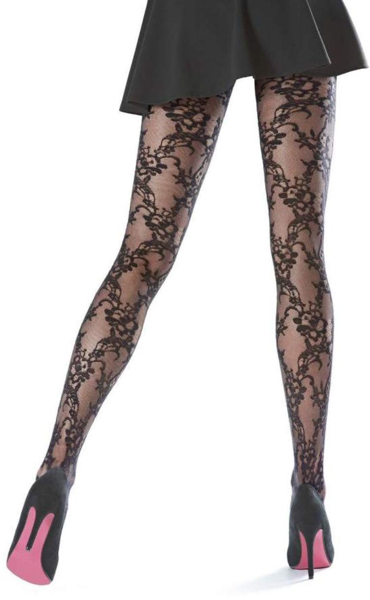 0ad0414ae2a OROBLU Black Lace Tights - Shop at www.fashion-tights.net  tights  pantyhose   hosiery  nylons  legs