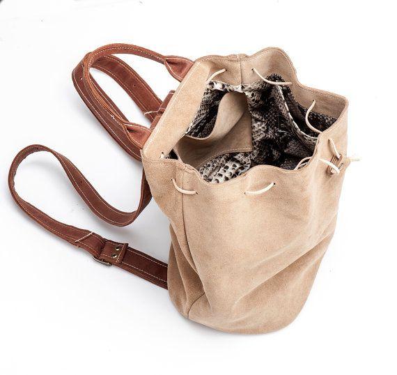 Camel Leather Backpack Handmade Backpack Leather by MeitaLev