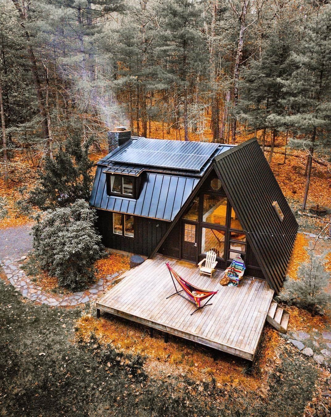 Pin By Inherited Salt Entertaining On Drewo Tiny House Design A Frame House Cabins In The Woods