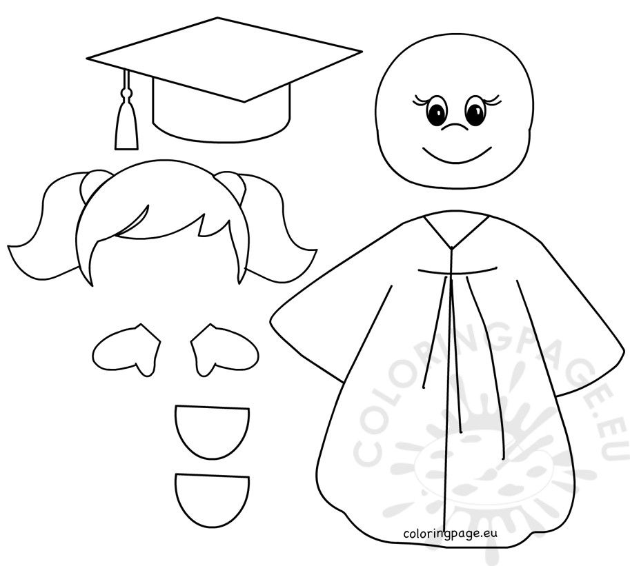 Pin On Graduation Coloring Pages Pre k graduation worksheets