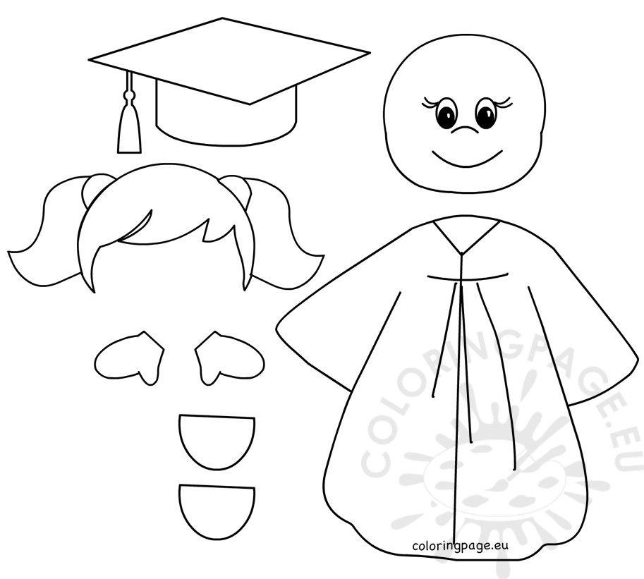 Preschool Graduation Girl Templates Payasitos De Fomi Caras De