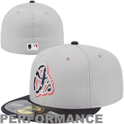 size 40 9a5f5 33dd7 New Era Baltimore Orioles Stars   Stripes 4th of July Diamond Era On-Field  Performance 59FIFTY Fitted Hat - Gray Navy Blue