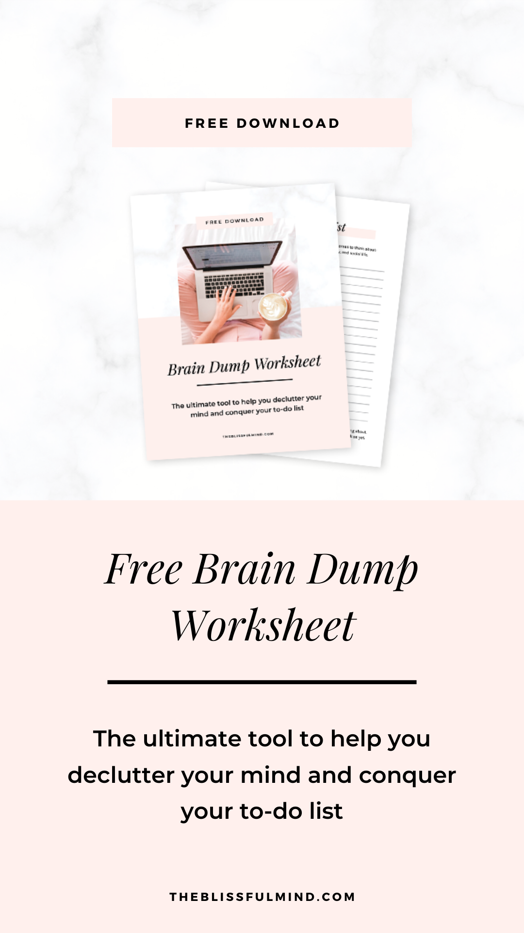 Free Brain Dump Worksheet In