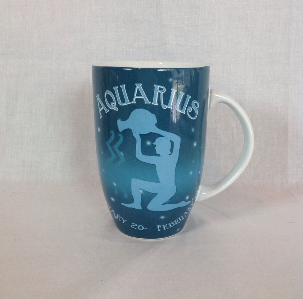 Coventry Zodiac Sign Aquarius Large Coffee Mug Horoscope Porcelain ...