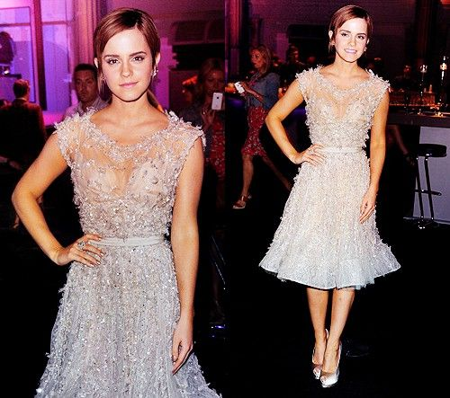 Emma Watson at the HP: Deathly Hallows 2 after party.