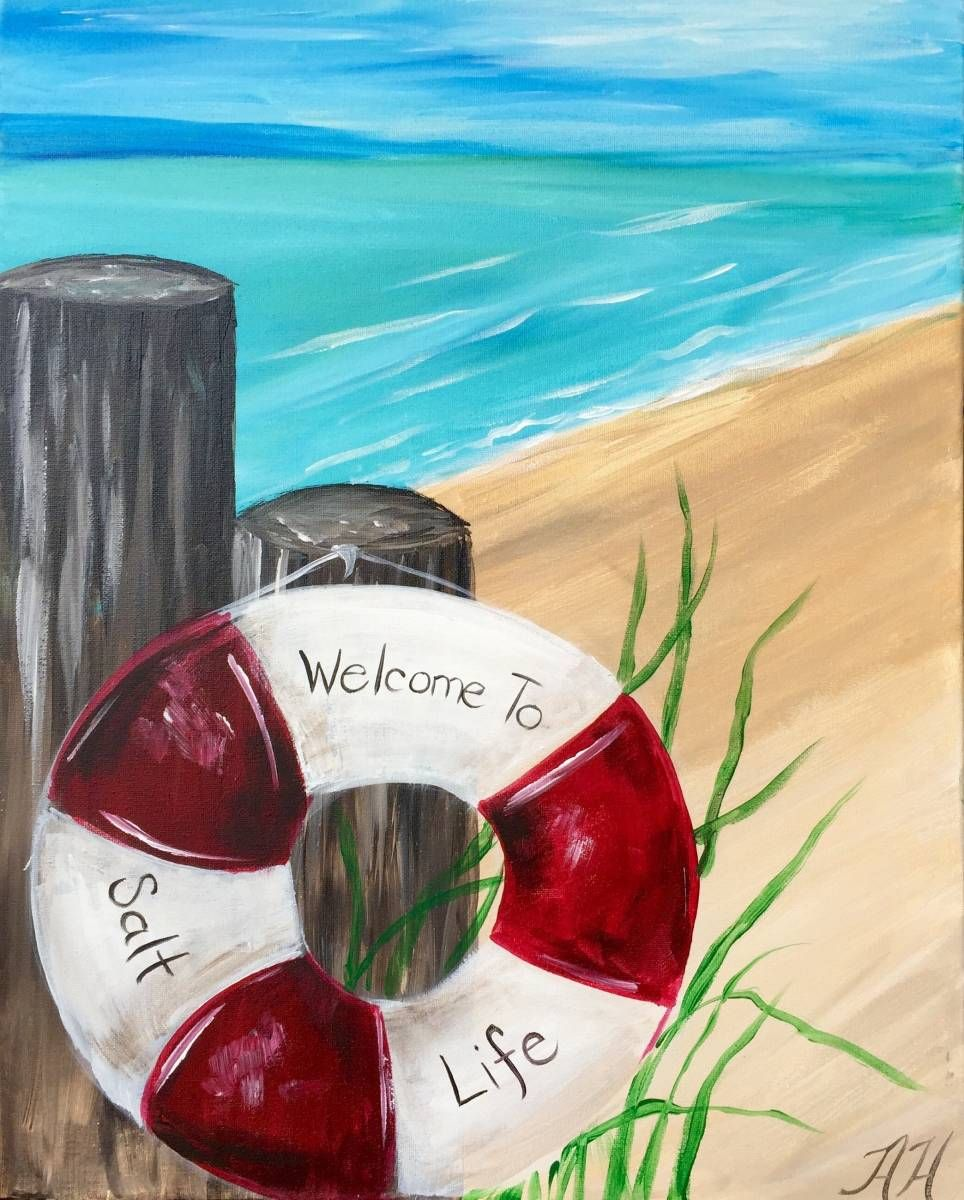 Pin By Klazina Van Der Plas On Painting Acrylic Painting On Canvas For Beginners Beach Scene Painting Beach Canvas Paintings Painting Canvases