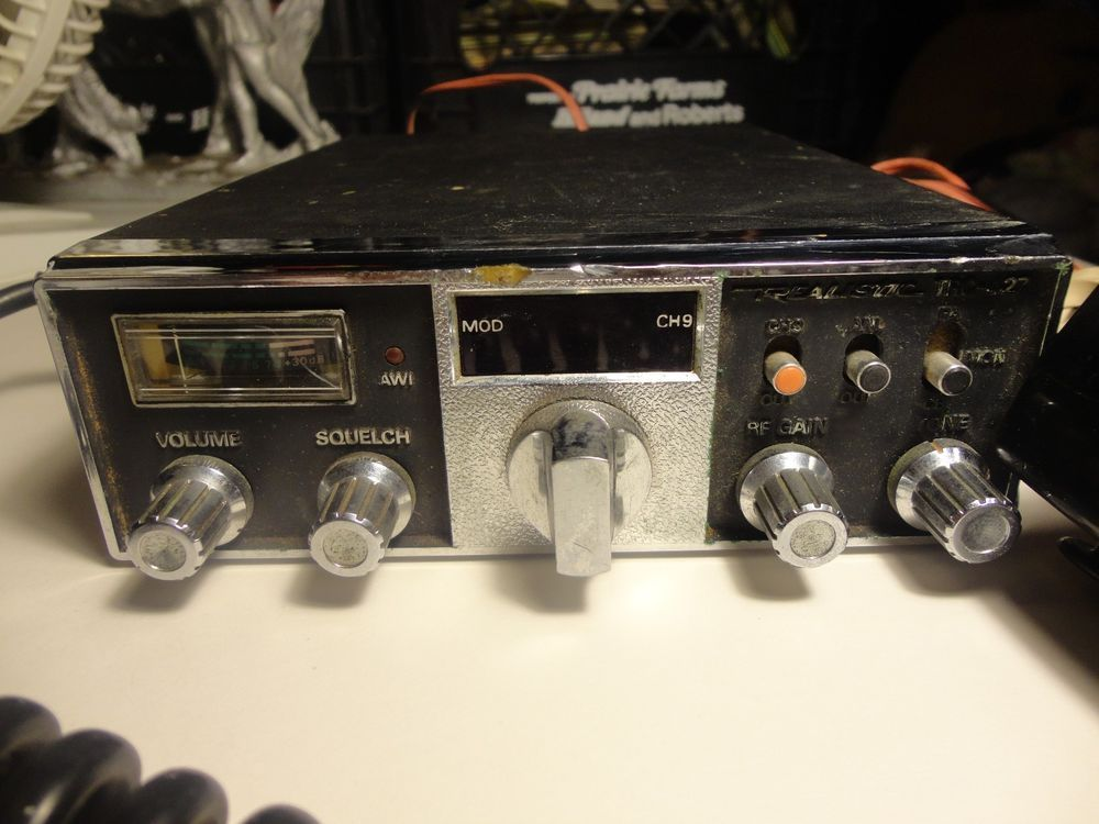 Tested rare mount Realistic TRC-465 CB Radio ham SSB Citizen Band Transceiver