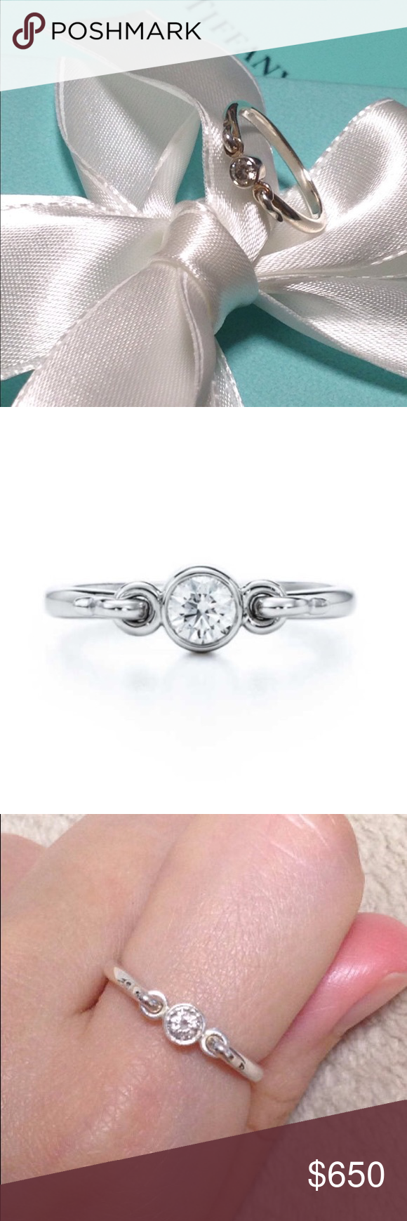 649be4bae Tiffany and Co Elsa Peretti Swan Diamond ring Tiffany and Co Elsa Peretti diamond  ring in