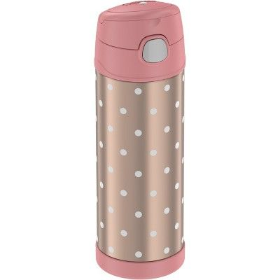 2019 Thermos Gold Bottle Water In DotsPurple Rose 16oz Funtainer 5SR4qAc3jL
