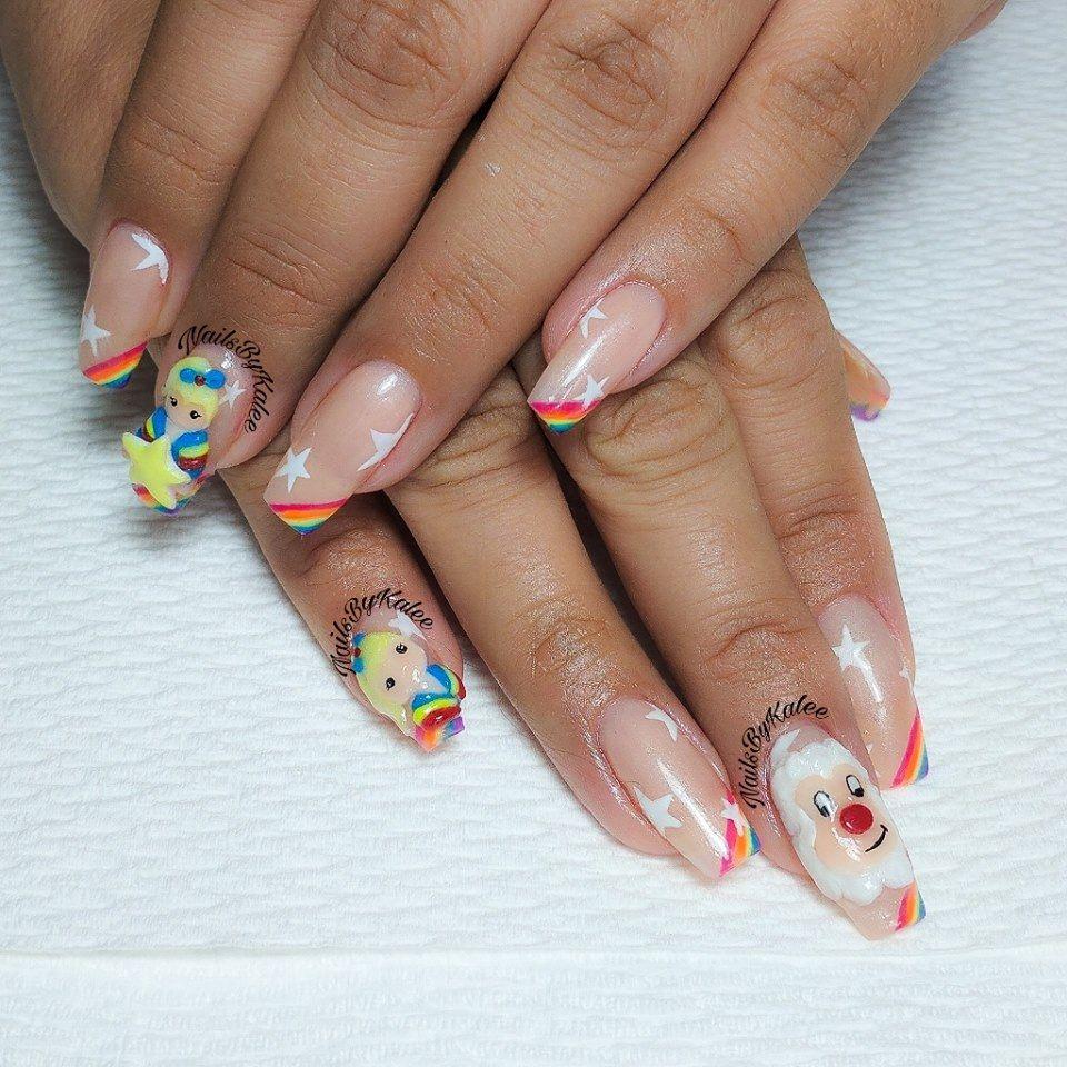 3-D Rainbow Brite Nail Art - Nailpro   Nails I need to do ...