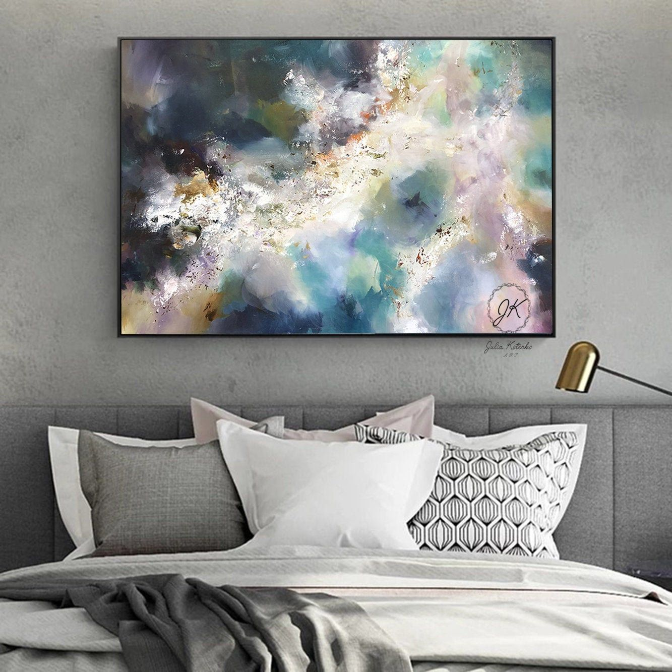 Large Wall Art Bedroom Above Bed