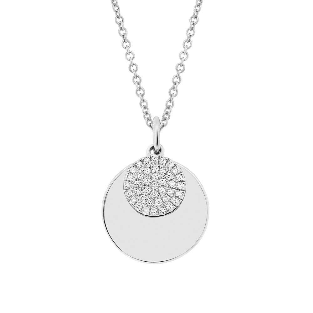 London collection 14k gold diamond circle pendant necklace 14k gold london collection 14k gold diamond circle pendant necklace 14k gold link necklace featuring a circle aloadofball Choice Image