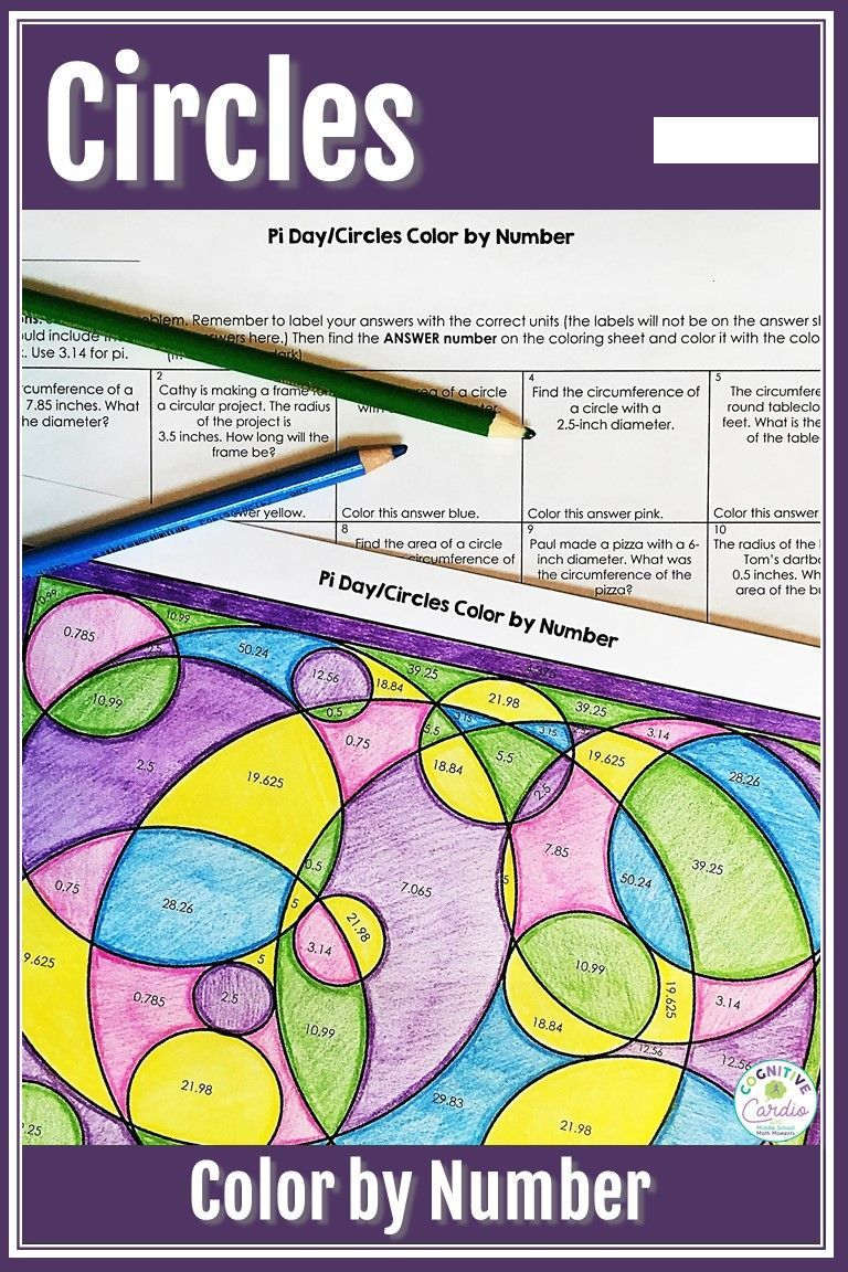 Pi Day Activity Circles Color By Number Middle School Math Google Classroom Activities Activities [ 1152 x 768 Pixel ]