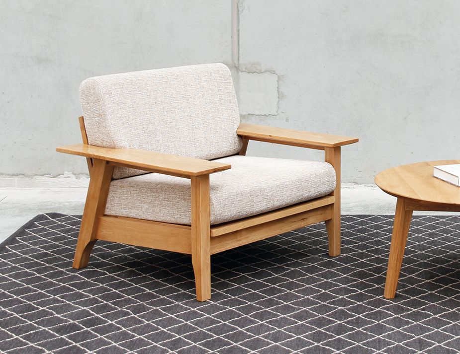 Japan solid oak single seat sofa custom fabric choice by bent design also the best house designs images on pinterest contemporary houses rh