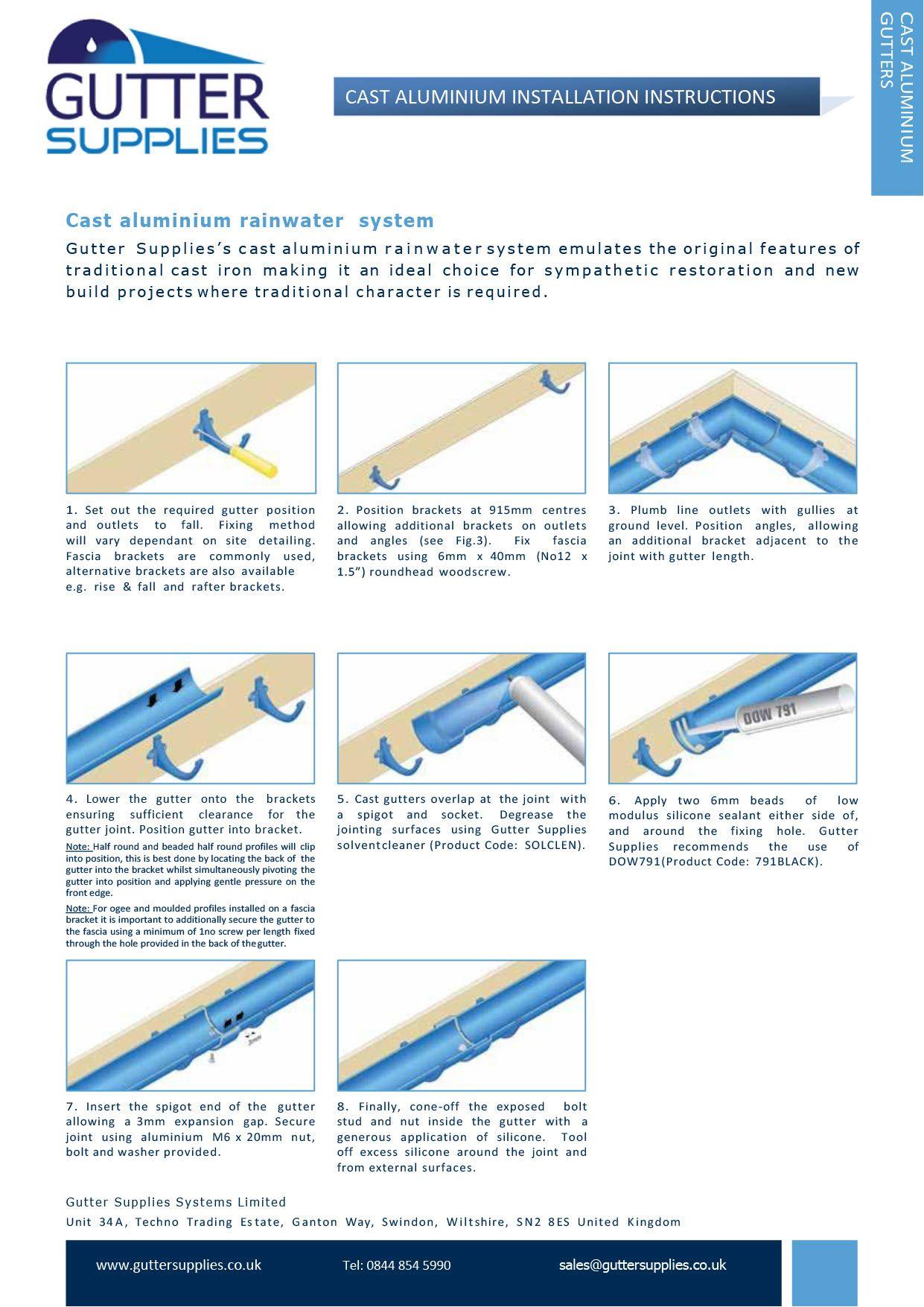 Aluminium Gutter Installation Instructions How To Install Gutters Gutter Installation