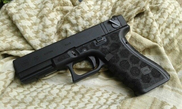 WE Glock 18c stippling Save those thumbs & bucks w/ free shipping on this magloader I purchased mine http://www.amazon.com/shops/raeind   No more leaving the last round out because it is too hard to get in. And you will load them faster and easier, to maximize your shooting enjoyment.
