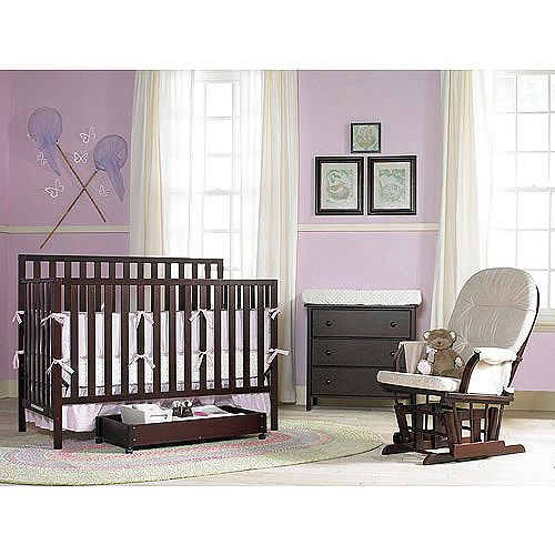 Graco Complete Nursery Solution Set With Crib Dresser Trundle And Glider