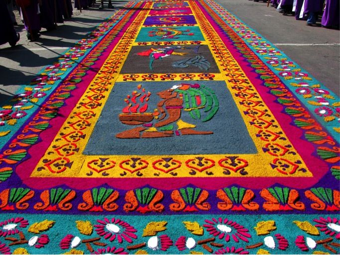 Semana santa en la antigua guatemala trip planner for Antigua alfombras