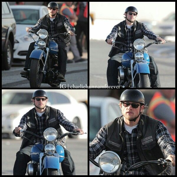 Charlie Hunnam Filming The Last Episode Ever Of Soa Charlie Hunnam Sons Of Anarchy Great Tv Shows