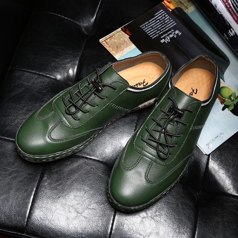 Leather Casual Shoes Men Oxford Men'S