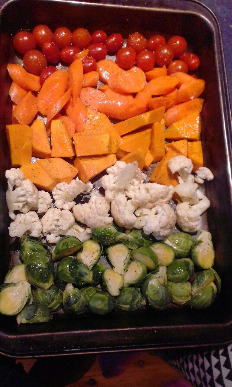 Rainbow vegetable bake