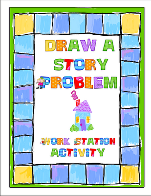 create your own math story problem - i want to do something similar to this, but with big dice!