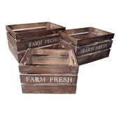 Found it at Wayfair - Farm Fresh Wood Crate