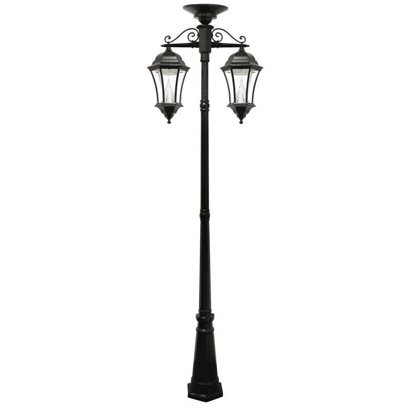 Gama Sonic Victorian Solar Lamp Post Double Downward Hanging Led Lamps 94c02 Outdoor Lamp Posts Solar Lamp Post Lamp Post Lights